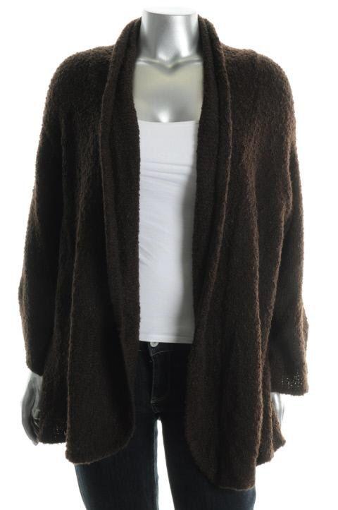 Karen Scott New Brown Boucle Cardigan Sweater Plus 1x BHFO