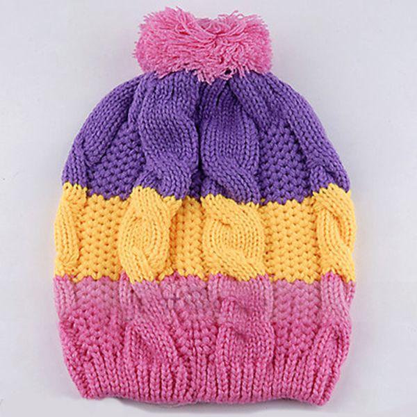 New Cute Baby Girls Boys Kids Children Stretchy Winter Nice Warm Hat