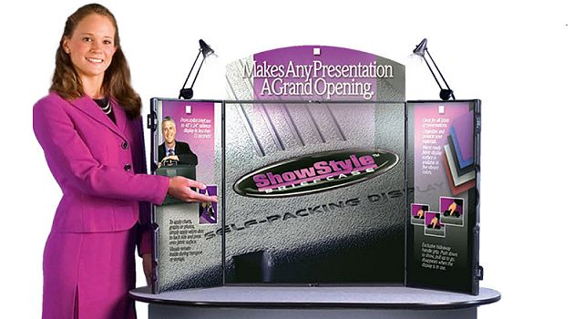 Black Showstyle Briefcase Table Top Trade Show Display