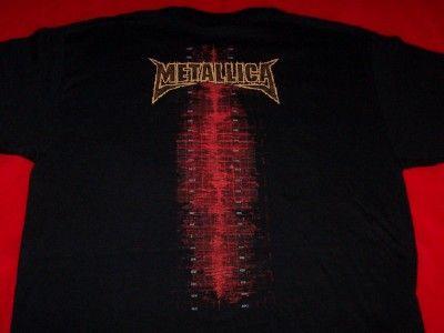 Metallica T Shirt Wavelength Scenes Black Size Large