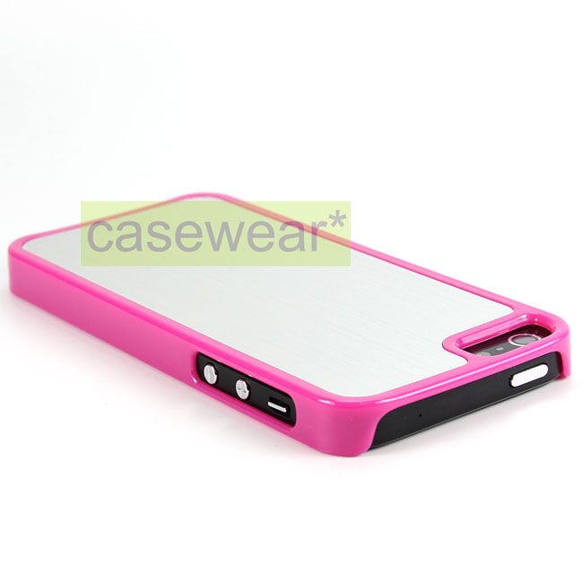 Brushed Metal Slim Hard Case Cover for Apple iPhone 5 Accessory