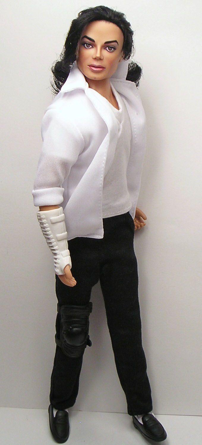 OOAK Michael Jackson Tribute Doll Art Repaint by Artist Pamela Reasor