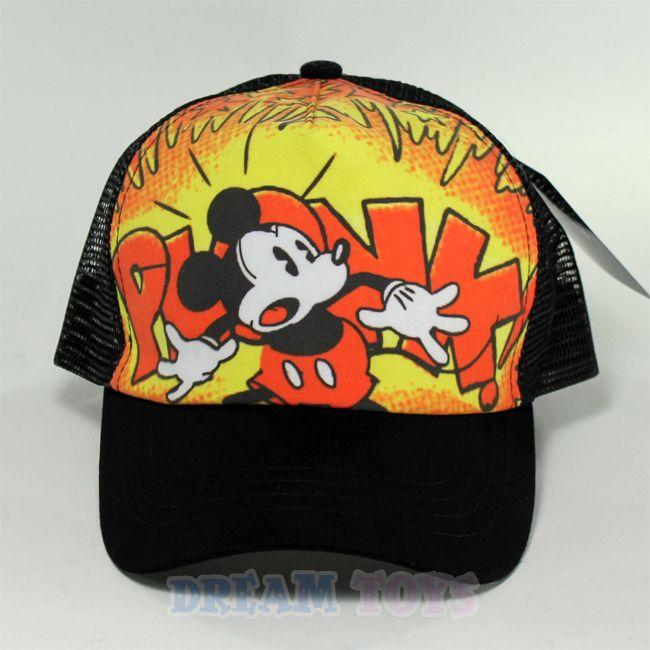 Disney Mickey Mouse Plonk Kids Baseball Cap Hat Velcro Adjustable Boys