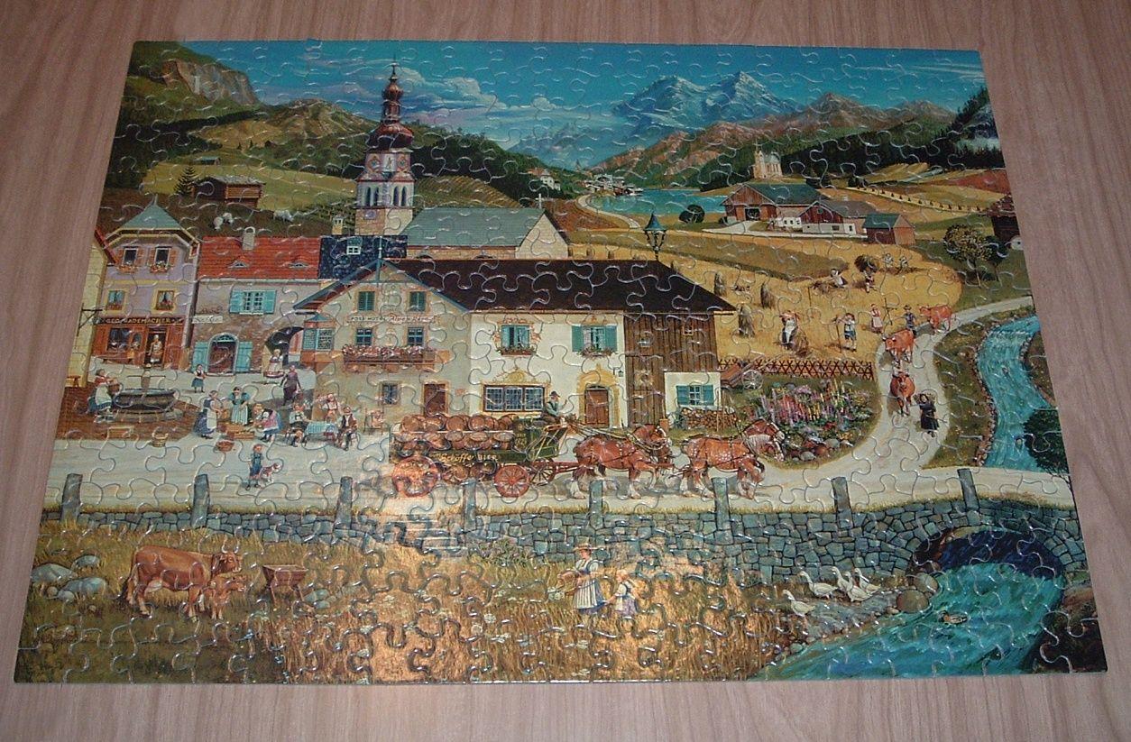 Swiss Village Bob Pettes Milton Bradley 300 Piece Jigsaw ...