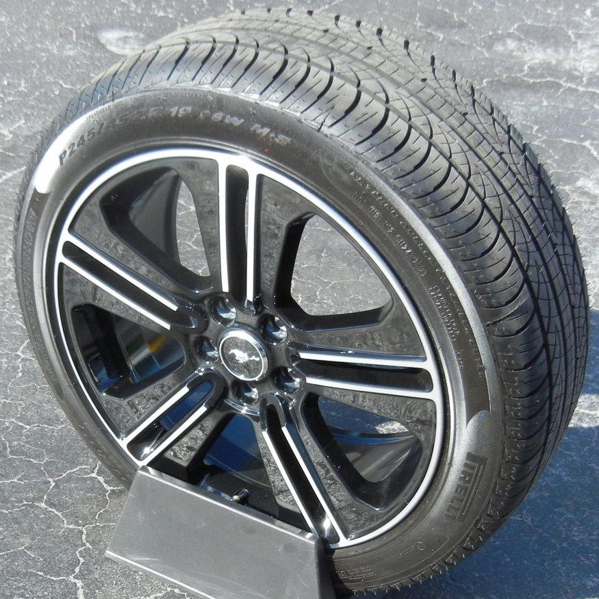 19 Black Stock Factory 2013 Ford Mustang GT Wheels Rims Pirelli Pzero