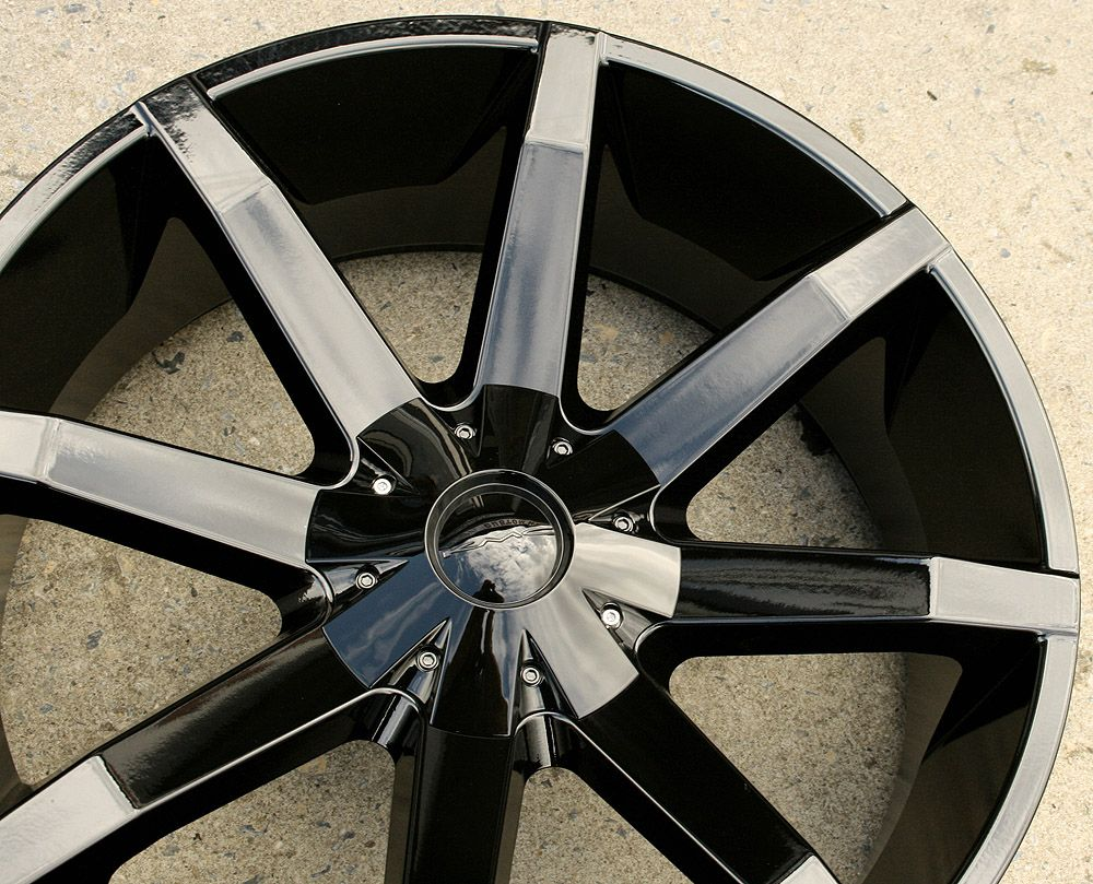 KMC Slide 651 22 Black Rims Wheels GMC Yukon Sierra 2WD 5x127 22 x 9