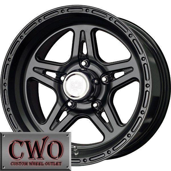 16 Black Level 8 Strike 5 Wheels Rims 5x127 5 Lug Chevy GMC C1500 Jeep