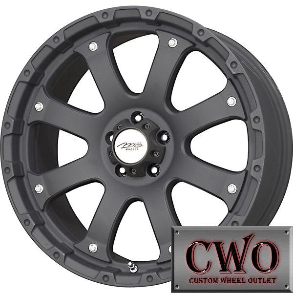 16 Black MB Torque Wheels Rim 5x127 5 Lug Jeep Wrangler Chevy GMC