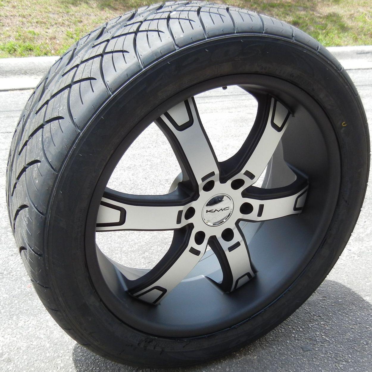 22 Black KMC Brodie Wheels Rims Nitto NT420S Tires Ford F150