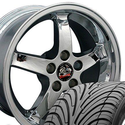 17 Cobra Wheels Chrome 17x9 Set Rim Fits Mustang®