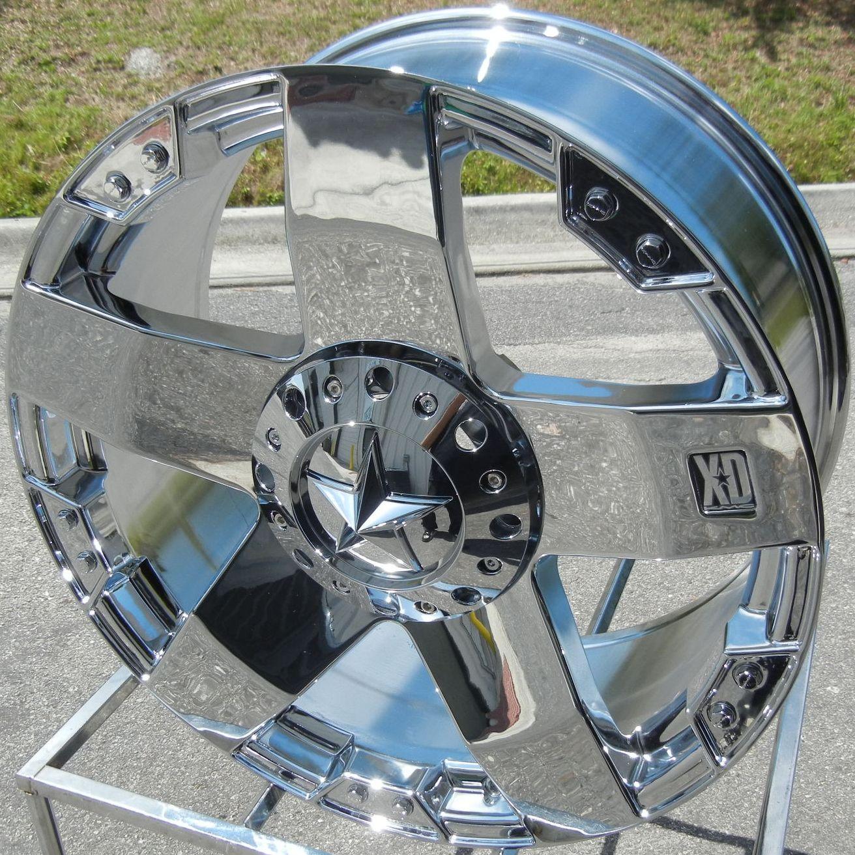 18 Chrome KMC XD Rock Star Wheels Rims Toyota Tundra Sequoia 5x150