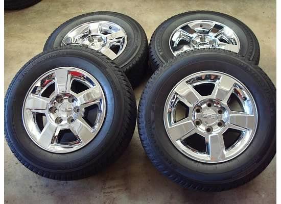 18 Chevy SILVERADO Tahoe CHROME Wheels RIMS TIRES OEM 2011 GMC Yukon