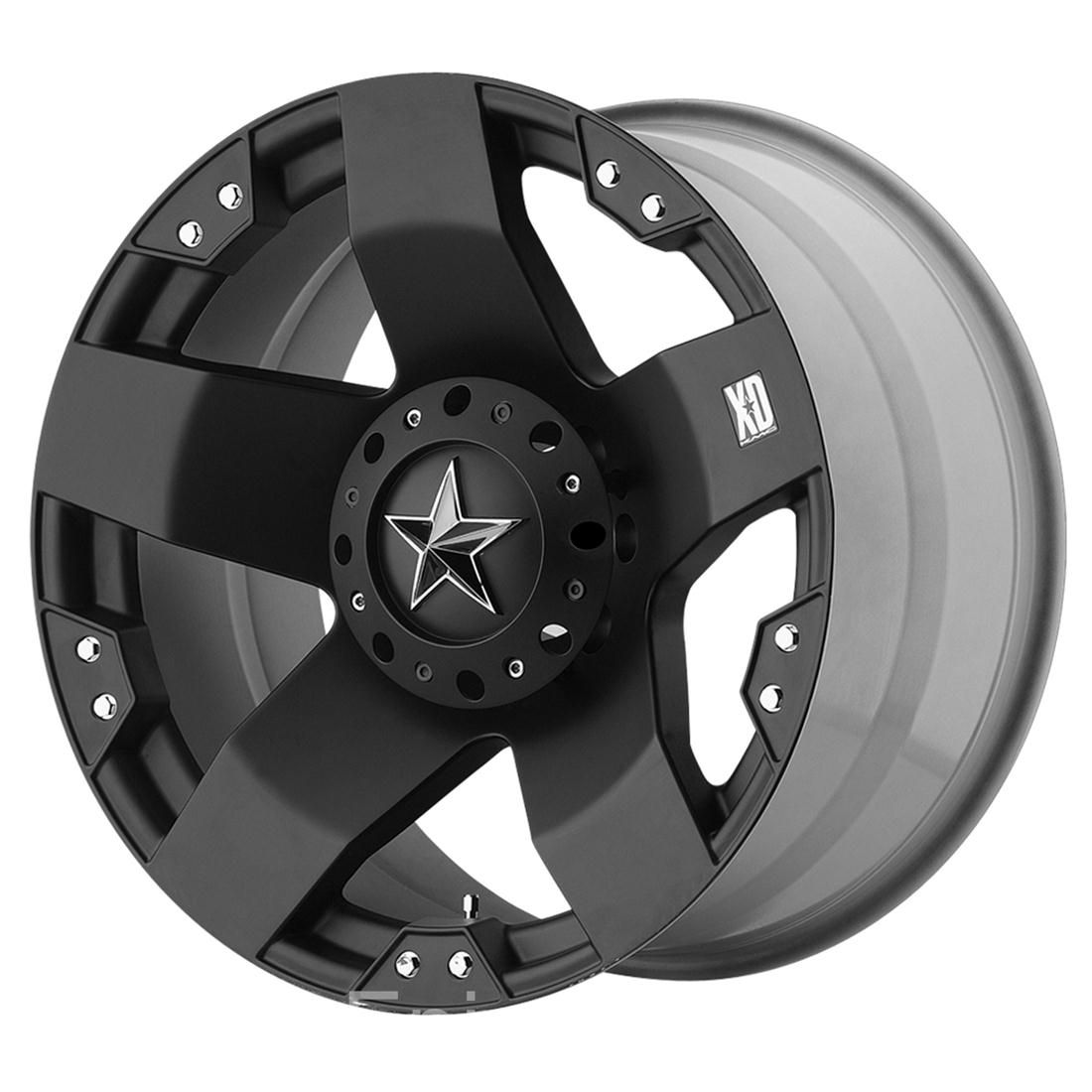 22 Black XD Rockstar Wheels Rim GMC Sierra Chevy Silverado Tahoe 1500