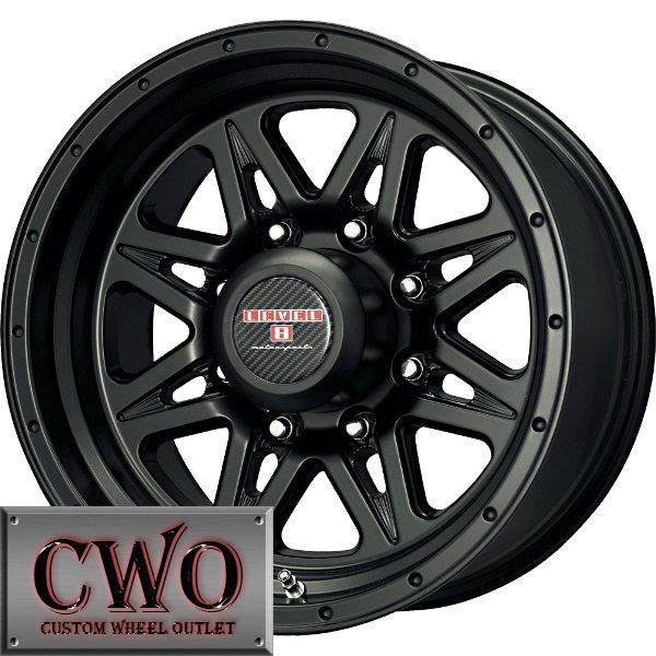 18 Black Level 8 Strike 8 Wheels Rims 8x165 1 8 Lug Chevy GMC Dodge