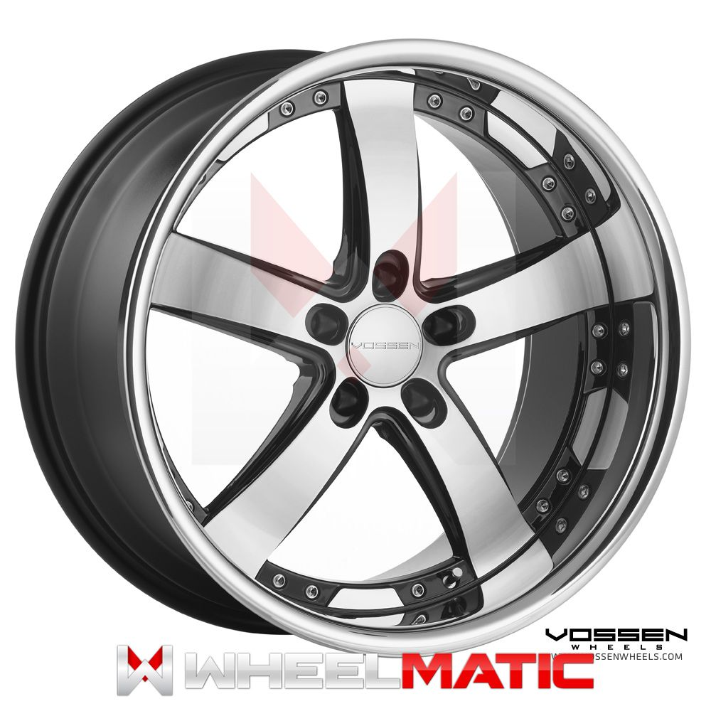 19 Vossen 84 19x8 5 10 5x120 30 36 Black Machined Wheels Rims
