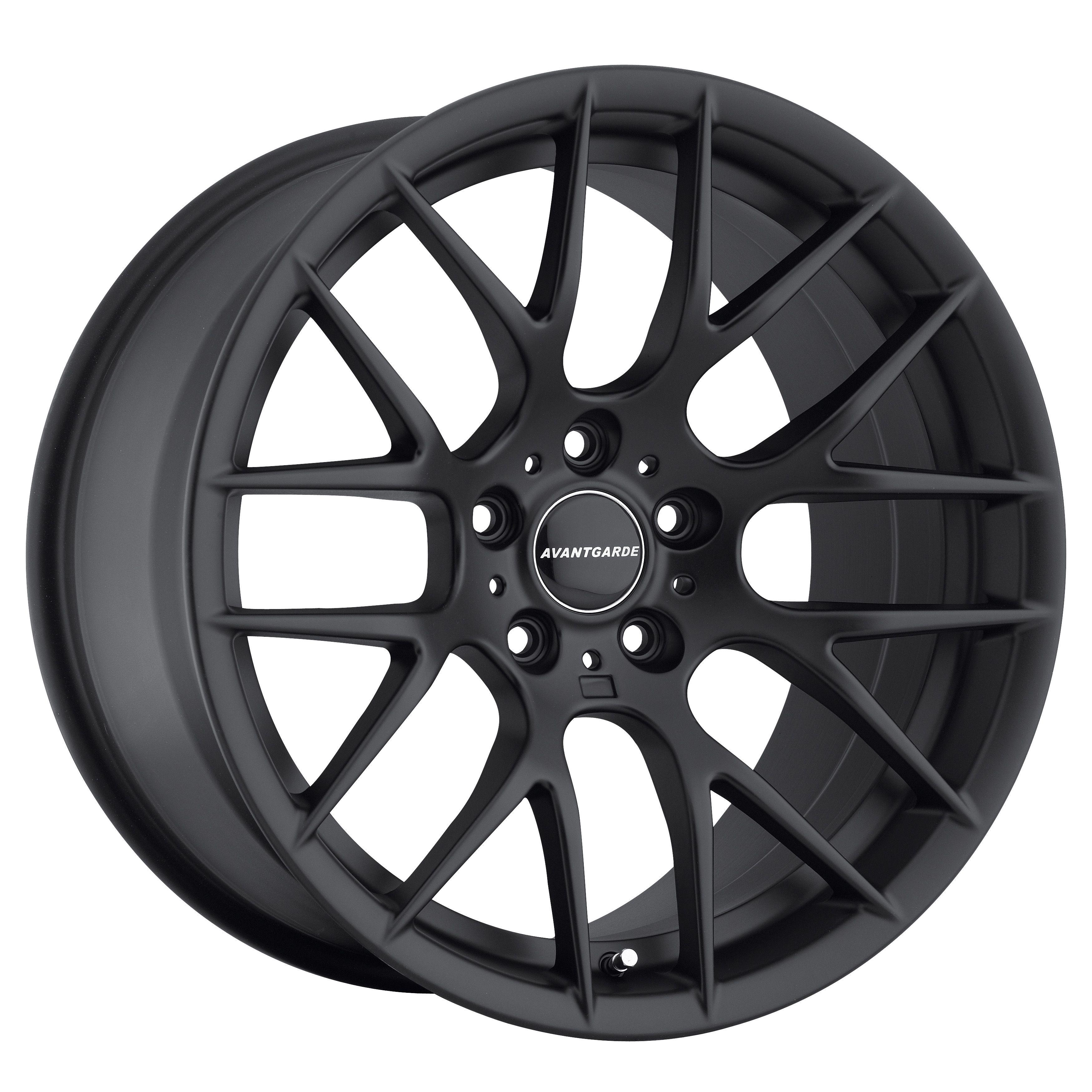 18 Avant Garde M359 Matte Black Wheels Rims Fit BMW 323 325 328 330