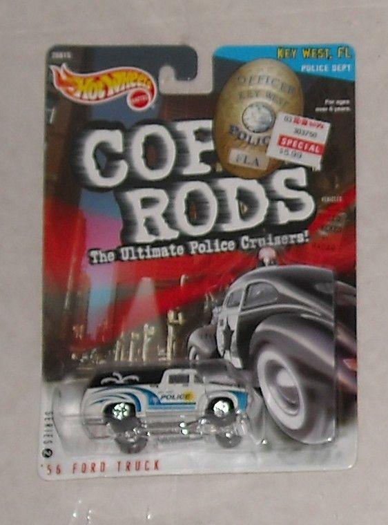 1999 Mattel Hot Wheels Cop Rods 56 Ford Truck FL