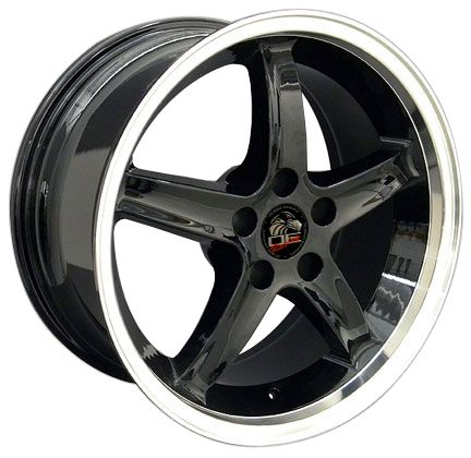 18 Black Cobra R Style Wheels Rims Fit 1999 2000 Mustang®