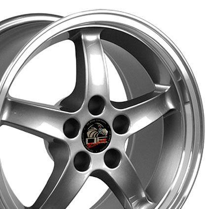17 9 10 5 Gunmetal Cobra Wheels Rims Fit Mustang® GT 94 04