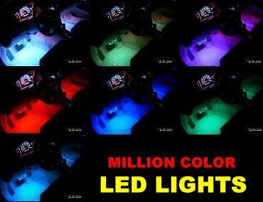 6pc Multi Color LED Interior Glow Accent Car Lights