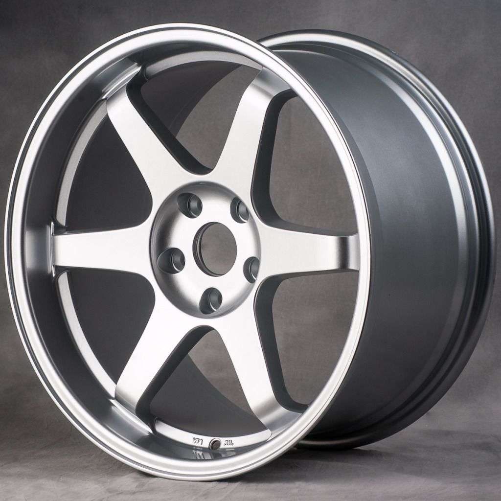 18 MIRO398 Style Hyper Silver Wheels Rims Fit Subaru WRX STI