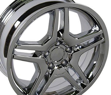18 Chrome AMG Wheel Rim Fits Mercedes C E s Class SLK CLK CLS 35mm