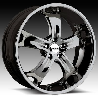 22 x9 Boss 329 3295 Black Chrome Wheels Rims 5 6 8 Lug