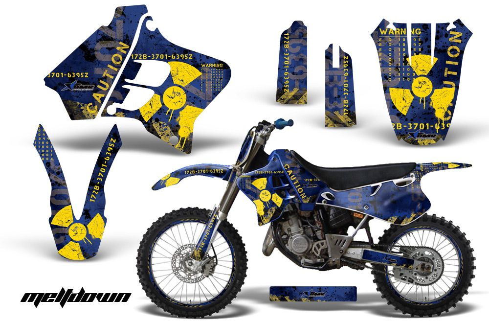 AMR Racing Number Plate MX Background Sticker Decal Yamaha YZ 125 250