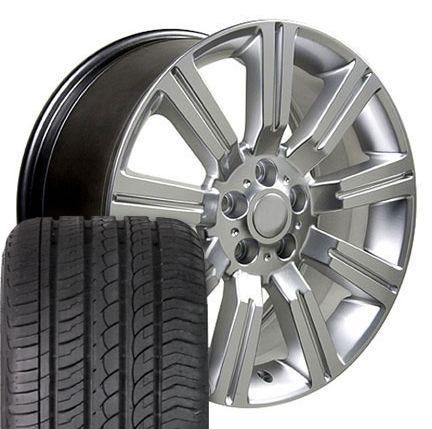 22 Hyper Silver Stormer Wheels 4 Rims Tires Fit Land Range Rover LR3