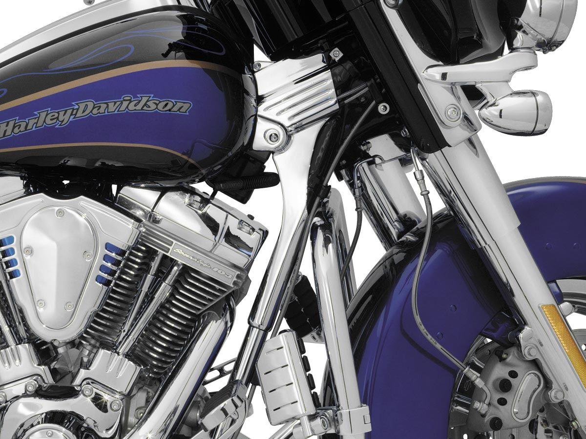 96 05 Flhri Road King Harley Davidson Kuryakyn Deluxe Neck Covers