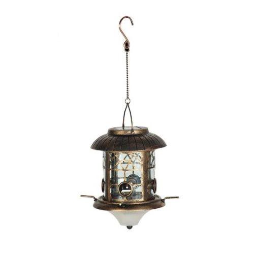 Ethan Taylor Preston Solar Lighted Bird Feeder Antique Bronzed