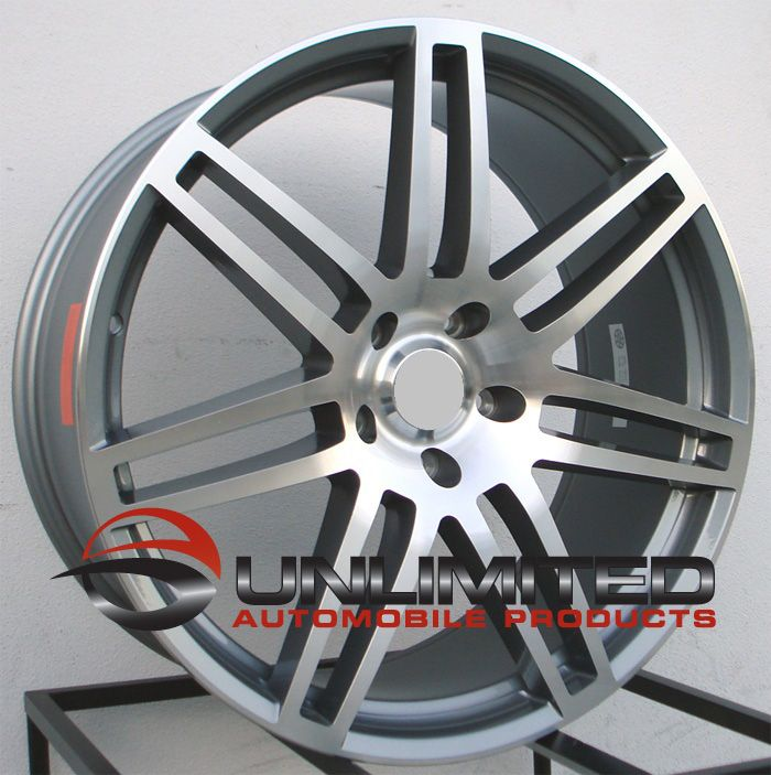 Style Gunmetal Machined Face Wheels Rims Fits Audi Q7 All Years