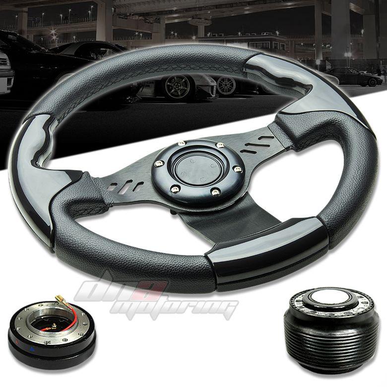 3pc Combo Quick Release Hub T390 Aluminum Racing Steering Wheel Miata