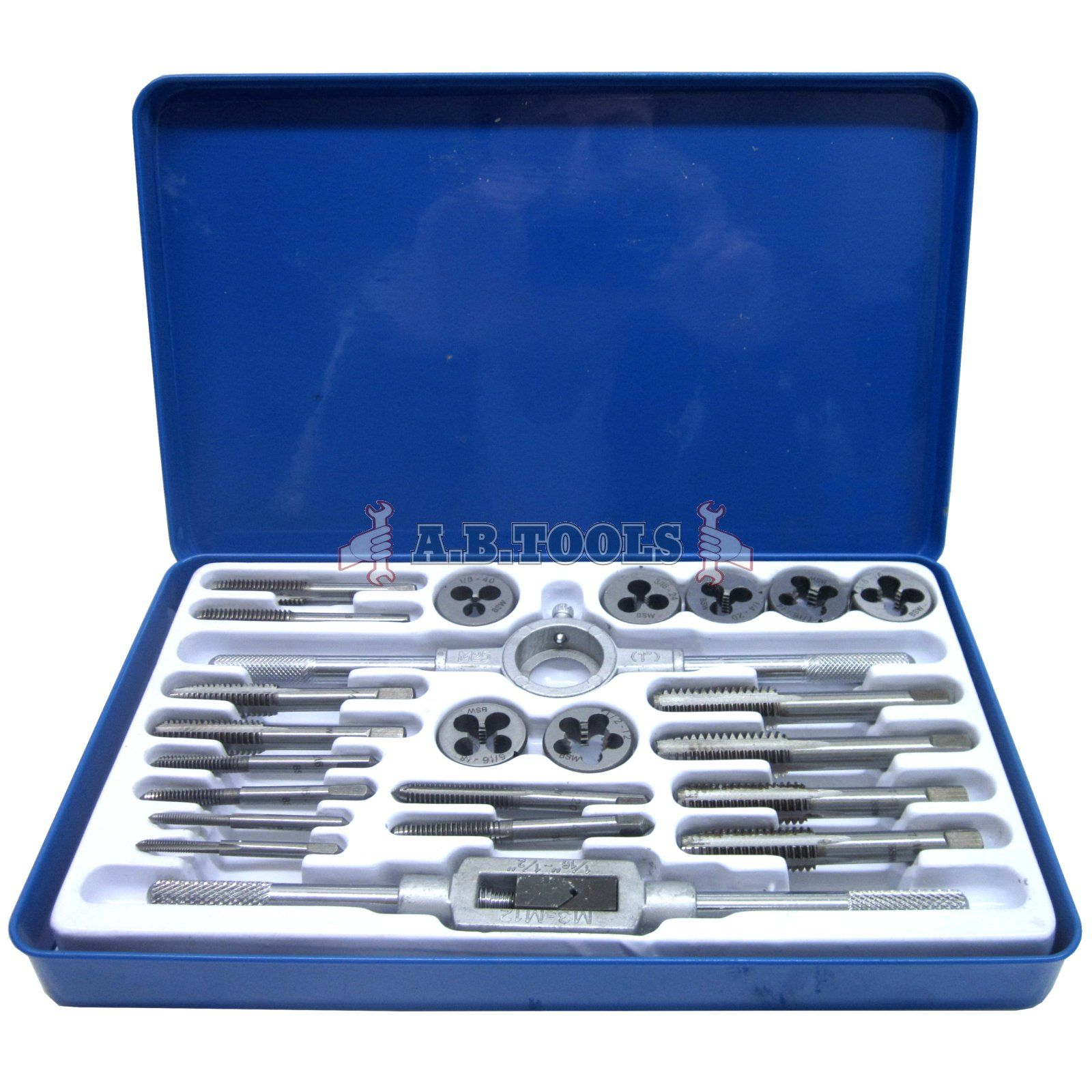 High Quality Whitworth Tap and Die Set 23pc TE106