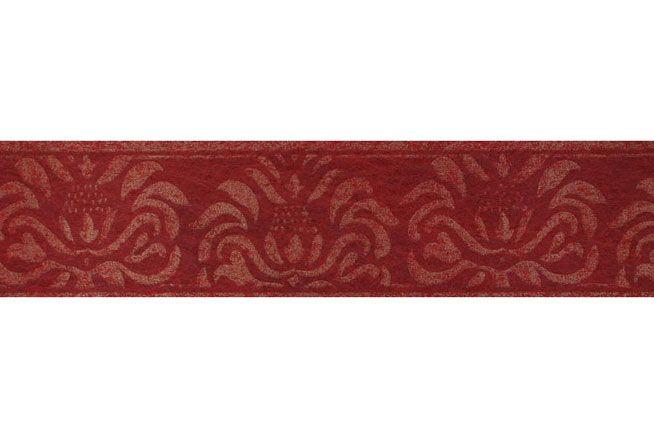 ROLLE Tapeten Bordüre  Palazzo  Ornament Bordeaux Rot Gold