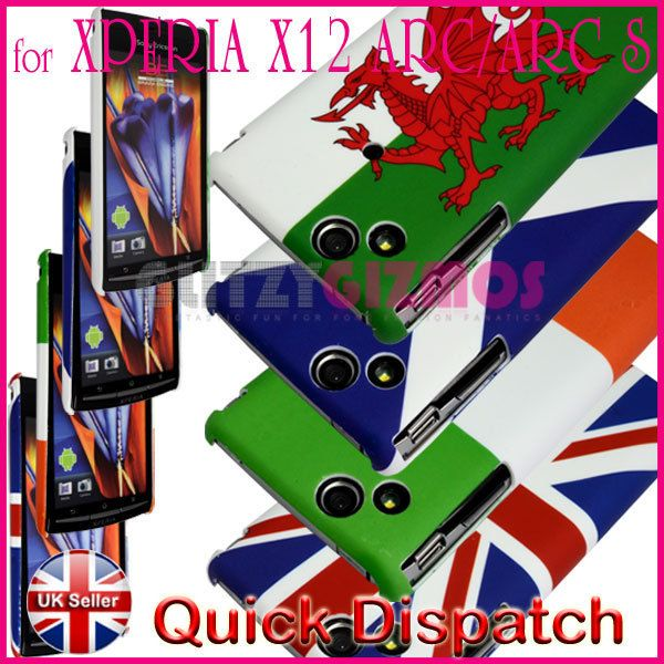 VARIOUS FLAG DESIGN HARD BACK CASE COVER FOR SONY ERICSSON X12 XPERIA