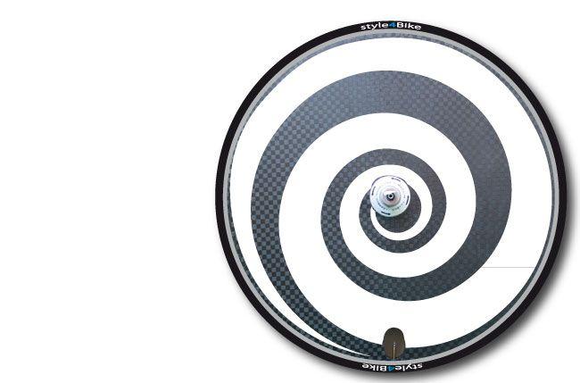 Scheibenrad Disc Wheel Aufkleber Roadbike Sticker Triathlon   Spirale