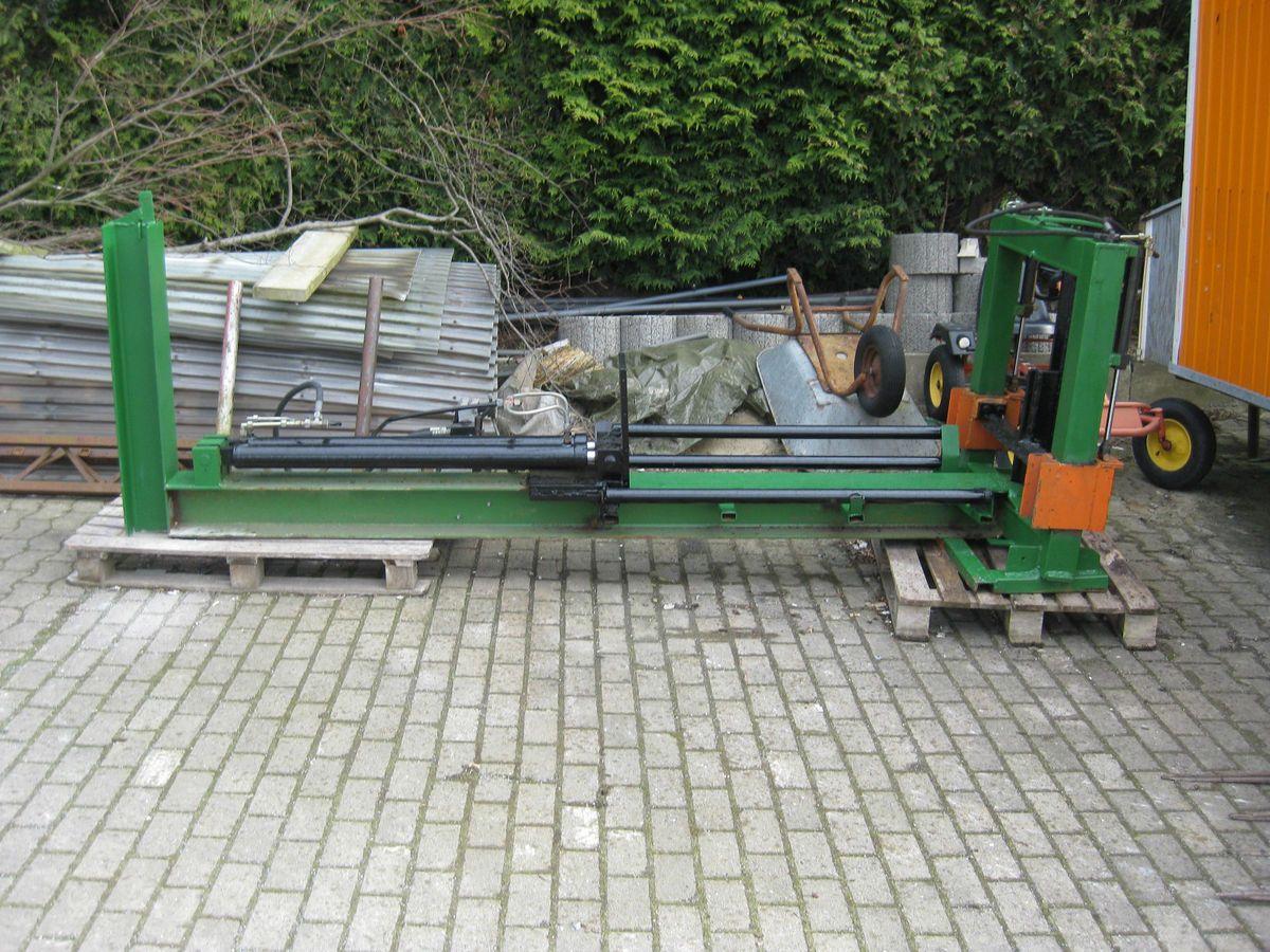 holzspalter eigenbau, anschluss an traktor hydraulik