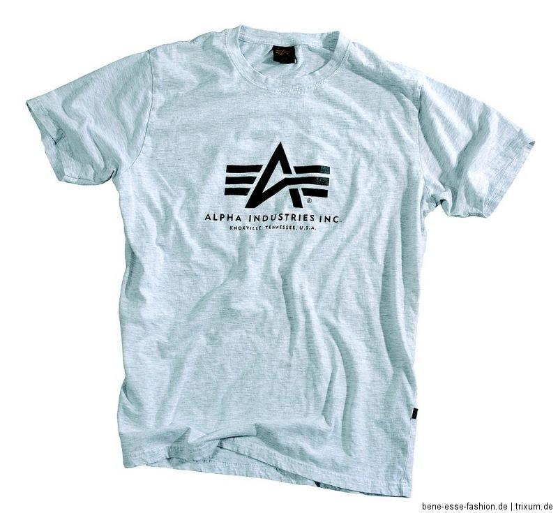 Alpha Industries Basic T Shirt grey S/M/L/XL/XXL