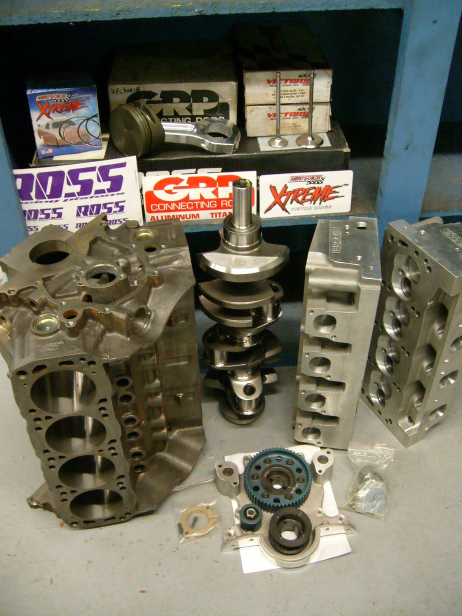 New 850 HP SBF Ford 351W 438 CID Race Engine Parts